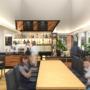 三郷中央におどりプラザ内にスタークコーヒーがオープン、ワッフルやピザ、パスタ、地酒におどりを使ったカクテルなど提供予定